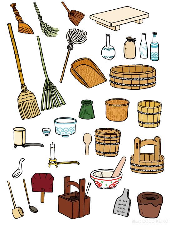 和の道具,和の道具イラスト,箒,