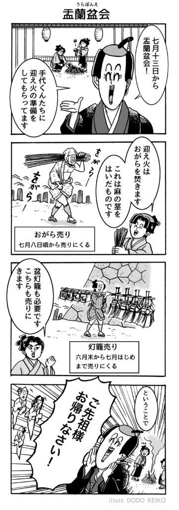盂蘭盆会,お盆,盂蘭盆会マンガ,江戸お盆,お盆イラスト,