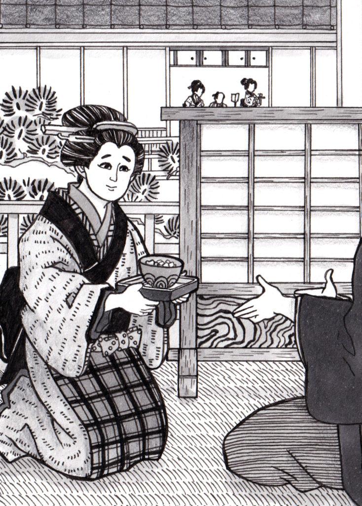 食事,食事イラスト,江戸,江,江戸時代,時代小説,時代小説挿絵,時代小説イラスト,